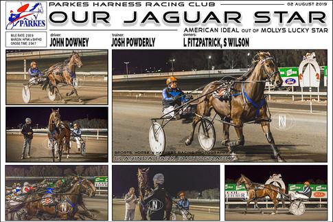 OUR JAGUAR STAR wins at Parkes Harness Trots