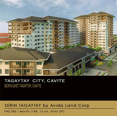 Condo Units for sale at Serin East Tagaytay, Cavite by Avida Land Corp.