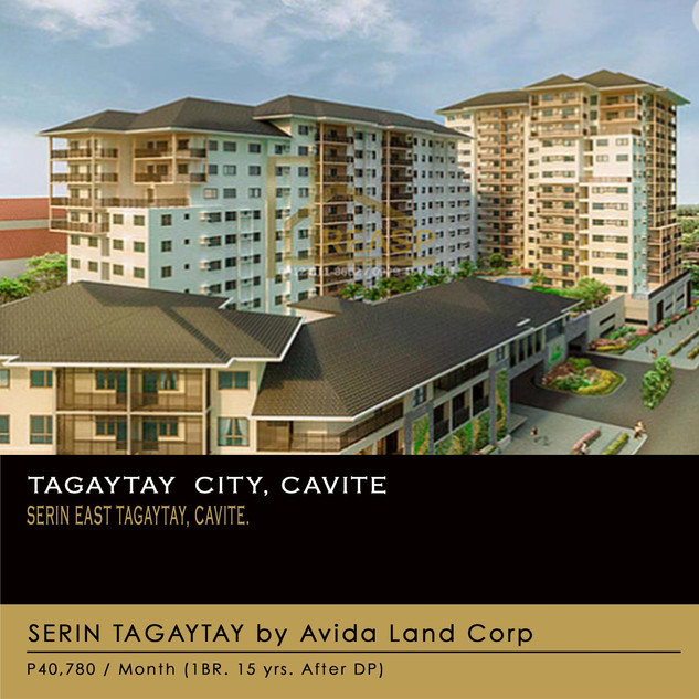 Unit For sale at Serin East Tagaytay, Cavite by Avida Land Corp