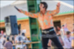 Brendon Chase performed and gave live entertainment during the Parkes Elvis Festival 2018 at ELVIS AT THE TROTS 2018. Parkes Harness Racing Club.