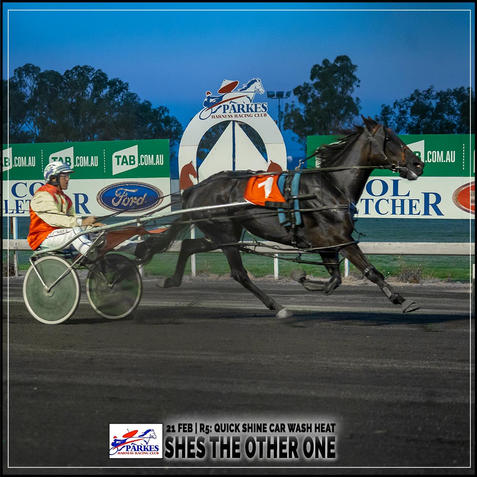 SHES THE OTHER ONE wins at Parkes Trots