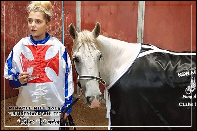 MIRACLE MILE 2019 - Shetland Division Champion - Lumberjack Willie driven by Chloe Formosa