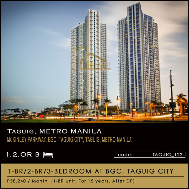 The TRION TOWER Units for Sale at BGC Taguig City