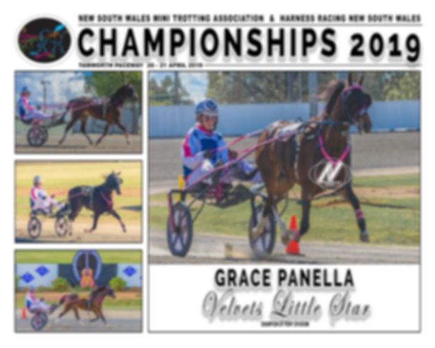 NSW Mini Trots Championship 2019 Ponies Champion - Velvets Little Star driven by Grace Panella