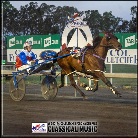 CLASSICAL MUSIC, driven by Amanda Turnbull, wins at Parkes Trots