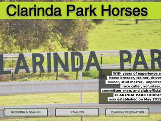 CLARINDA PARK HORSES launches its new website