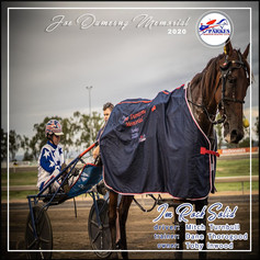 MItch Turnbull and Im Rock Solid during the Joe Dumesny Memorial Race 2020 presentation