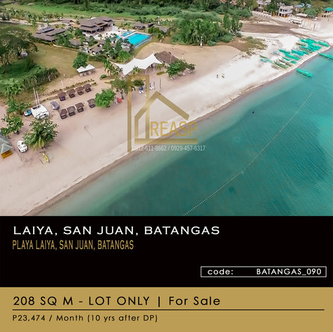 Lot For Sale at Laiya, San Juan, Batangas