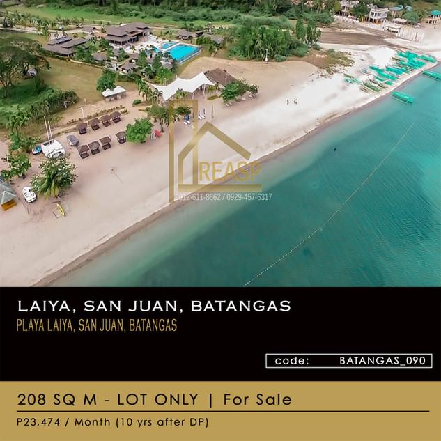 Lot For Sale at Laiya, San Juan, Batangas