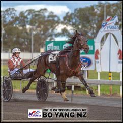 BO YANG NZ, driven by Nathan Townsend, wins at Parkes Harness.