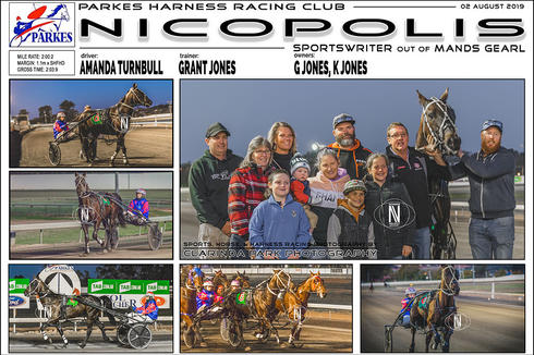 Race 1 - TAB ODDS & EVENS PACE - NICOPOLIS wins at Parkes Harness Trots
