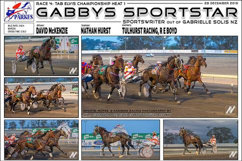 PARKES HARNESS - Race 4 - TAB ELVIS CHAMPIONSHIP HEAT 1 - GABBY SPORTSTAR wins at Parkes Trots