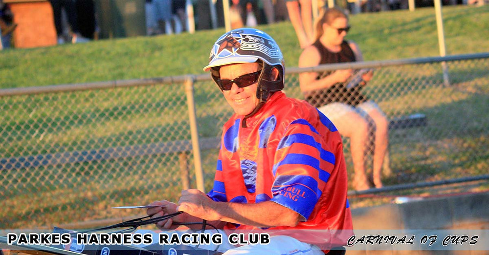Parkes Harness Racing Club New Year's Eve Carnival Of Cups Race 5 Langlands Hanlon winning driver Steve Dowton