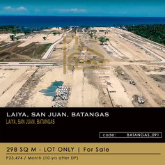 Lot For Sale at Seafront Residences Laiya, San Juan, Batangas