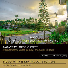 Residential Lot for sale at Metrogate Tagaytay Manor, Tagaytay City, Cavite