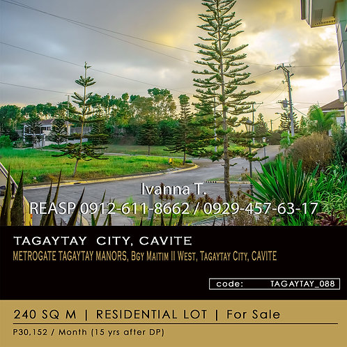 Residential Lot For Sale - Metrogate Tagaytay Manors - Tagaytay City, Cavite
