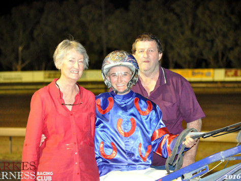 A Big Night For Emma On Parkes Harness Racing Club Meeting
