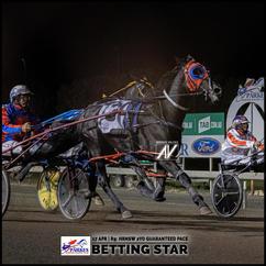 BETTING STAR, driven by John O'Shea, won at the Parkes Trots