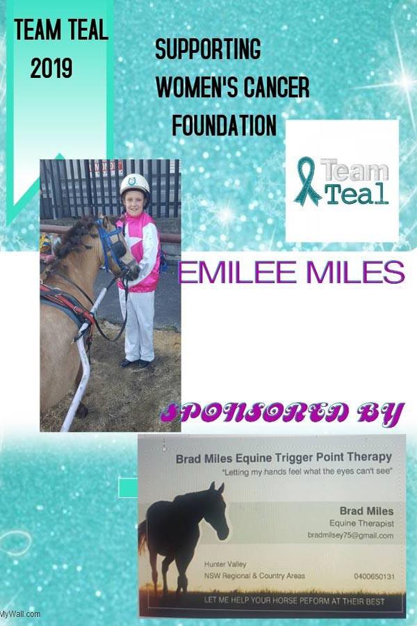 Team Teal 2019 - 002 - Emilee Miles spon