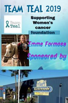 Team Teal 2019 - 003 - Emme Formosa spon