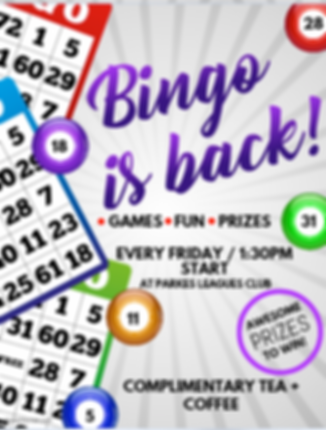 Parkes Bingo Game Event