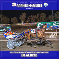 PARKES HARNESS - Race 7 - PARKES BETTA HOME LIVING PACE - IM ALRITE wins at Parkes Trots.