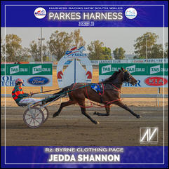 PARKES HARNESS - Race 2 - BYRNE CLOTHING PACE - JEDDA SHANNON wins at Parkes Trots