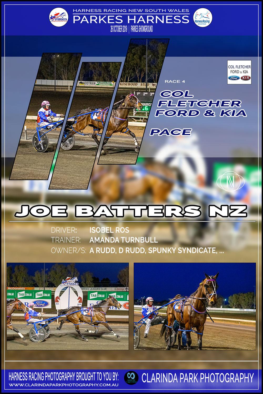 JOE BATTERS NZ Wins at Parkes Harness Racing Club | Trainer: Amanda Turnbull | Driver: Isobel Ross | Owner: A Rudd, D Rudd, Spunky Syndicate