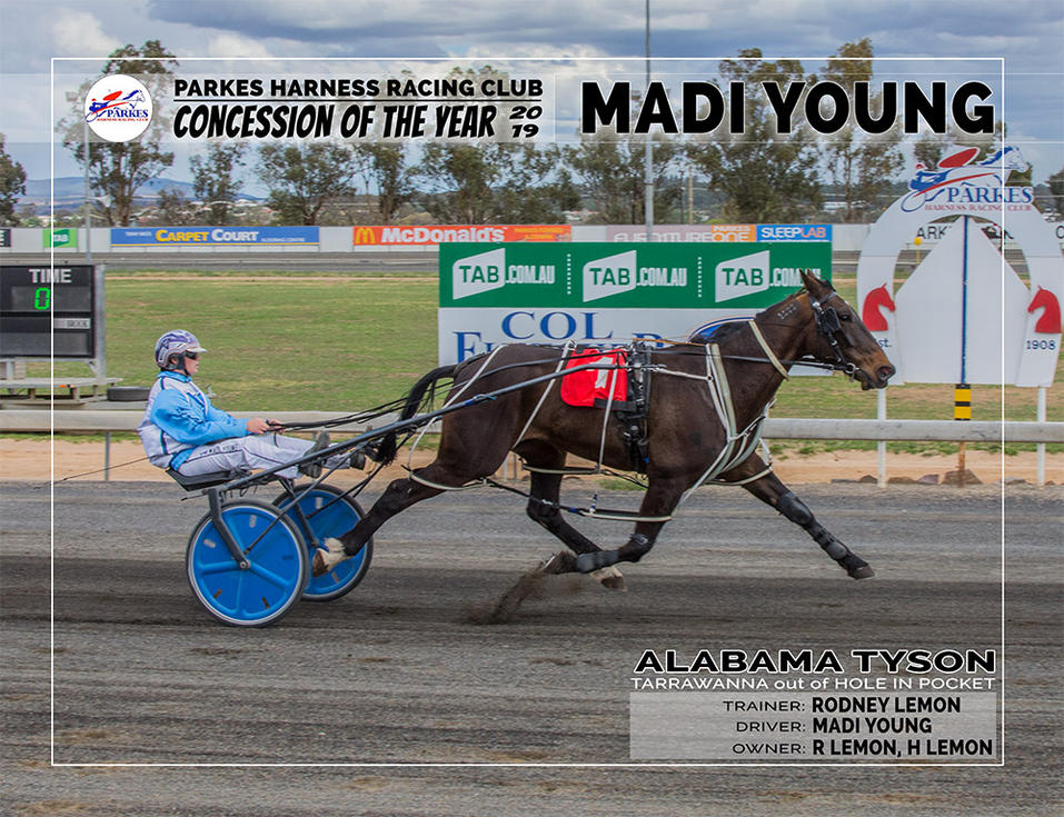 2019 PARKES Concession Of The Year 2019 - MADI YOUNG