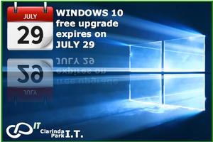 Clarinda Park I.T. Windows 10 upgrade