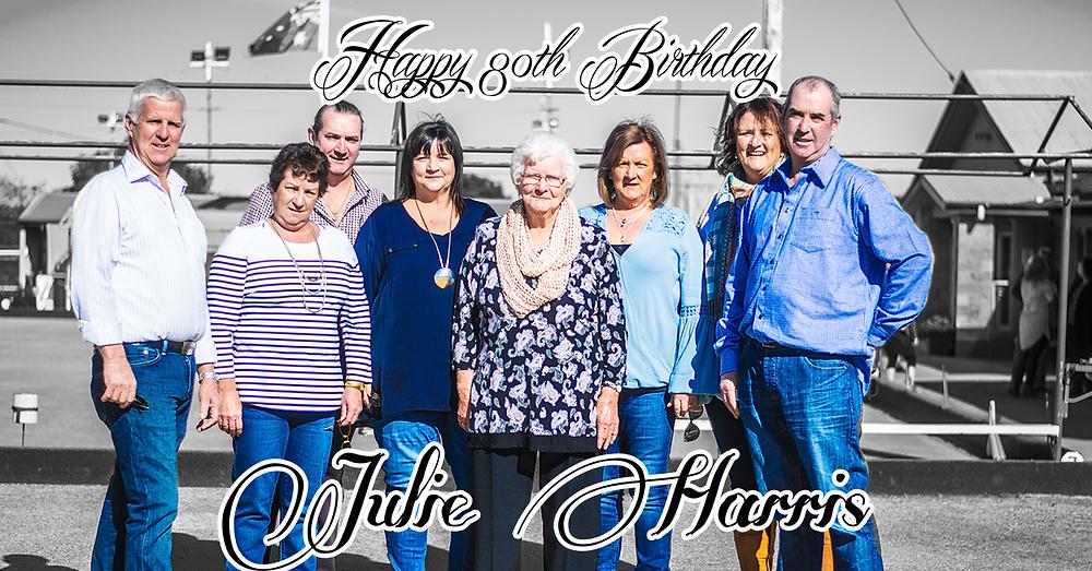 Happy 80th Birthday Julie Harris of Parkes