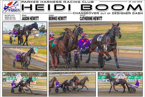 Heidi Boom Wins at Parkes Harness Racing Club   07 July 2019