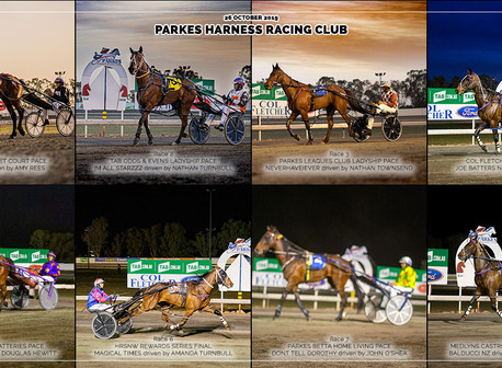 Congratulations to PARKES HARNESS Racing Club Race Meeting Winners - 26 OCTOBER 2019