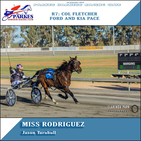 Parkes Harness Winner - R7: Col Fletcher Ford Pace