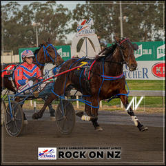 ROCK ON NZ driven by Mitch Turnbull  at the Parkes Trots