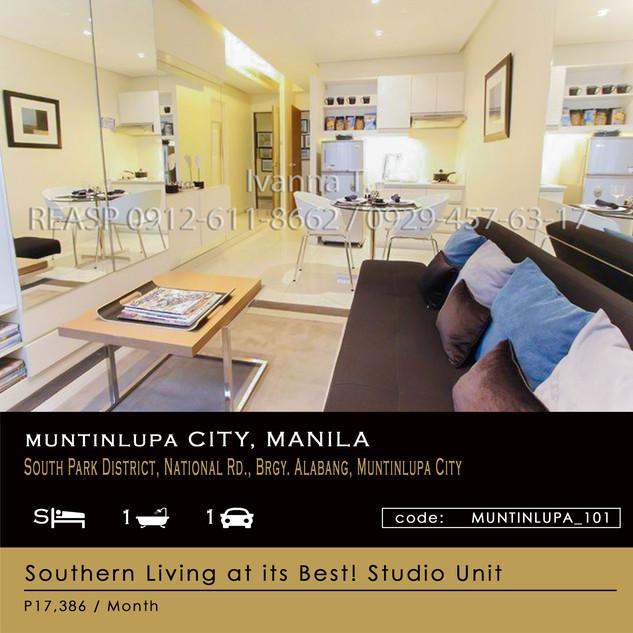 Studio Unit for Sale at Avida Towers Altura (Alabang, Muntinlupa City)