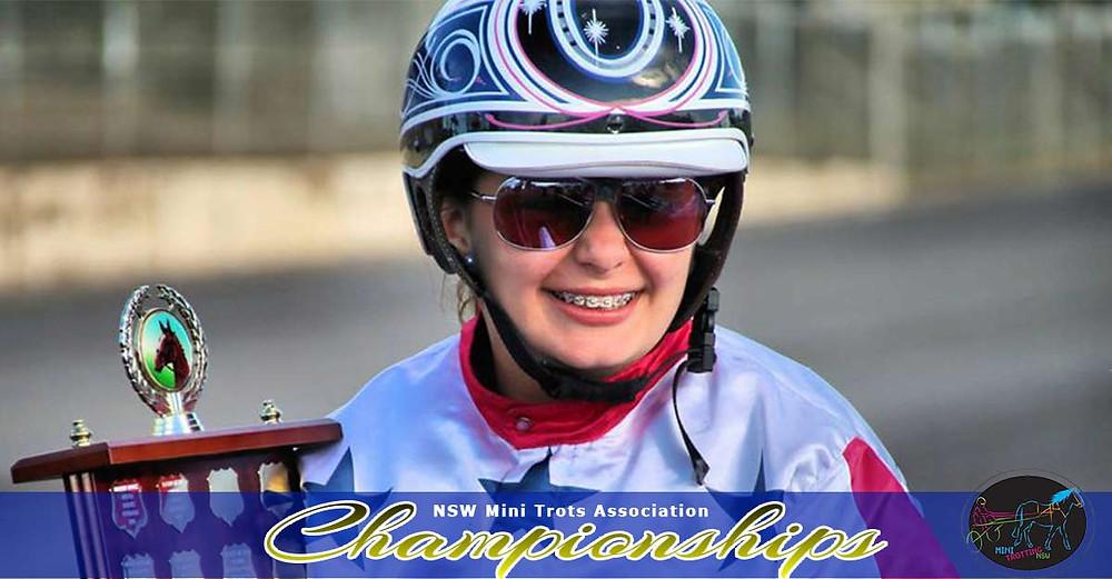 Champion of Champion winner Grace Panella. NSW Mini Trots Championships 2017.