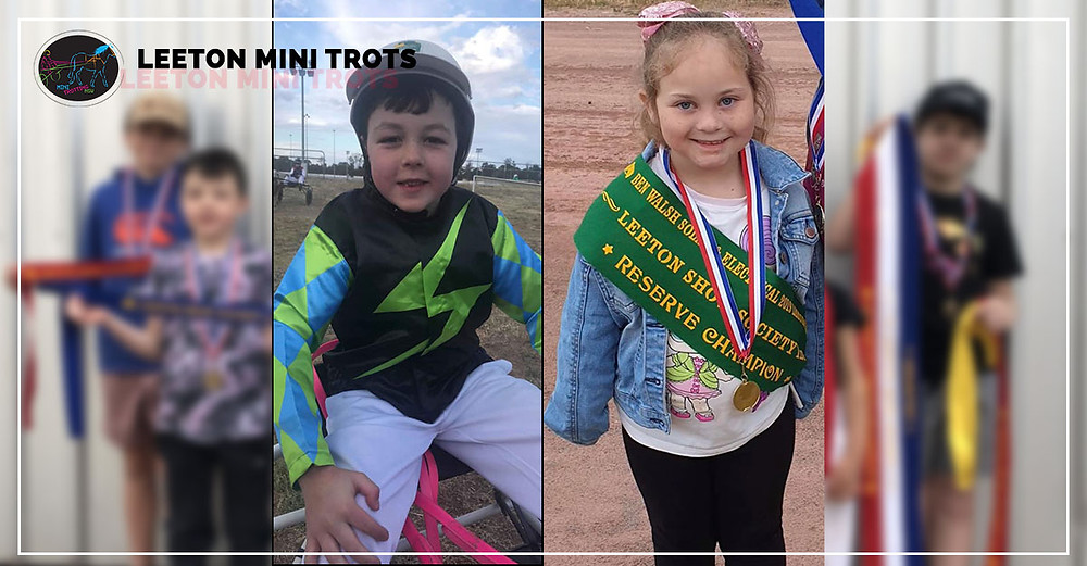 Pictured are our two new drivers who made their debut on Friday night - Lilah Trewin and Lachlan Symes. We wish them both many happy years of Mini Trotting with Leeton
