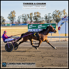 PARKES HARNESS - Race 2 - CLUBMENANGLE COUNTRY SERIES HEAT - THREES A CHARM wins at Parkes Trots