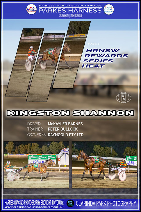KINGSTON SHANNON wins at Parkes Harness