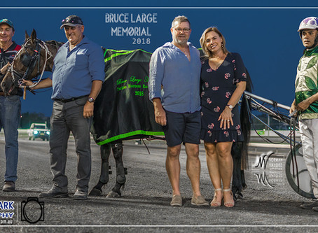 """Jimmy Brown and David Micallef Win at Parkes Harness Racing Club """"Bruce Large Memorial 2018&quo"""