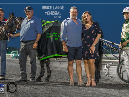"Jimmy Brown and David Micallef Win at Parkes Harness Racing Club ""Bruce Large Memorial 2018&quo"