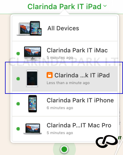 LOST MODE command of FIND IPHONE.