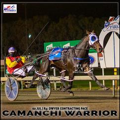 CAMANCHI WARRIOR, driven by Nathan Turnbull, won at the Parkes Trots