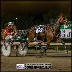 COUNT MONTECARLO, driven by John O'Shea, won at the Parkes Trots