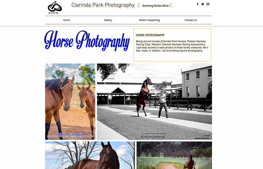Clarinda Park IT. Clarinda Park Photography launches its new website.