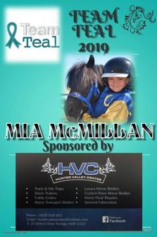 Team Teal 2019 - 004 - Mia McMillan spon