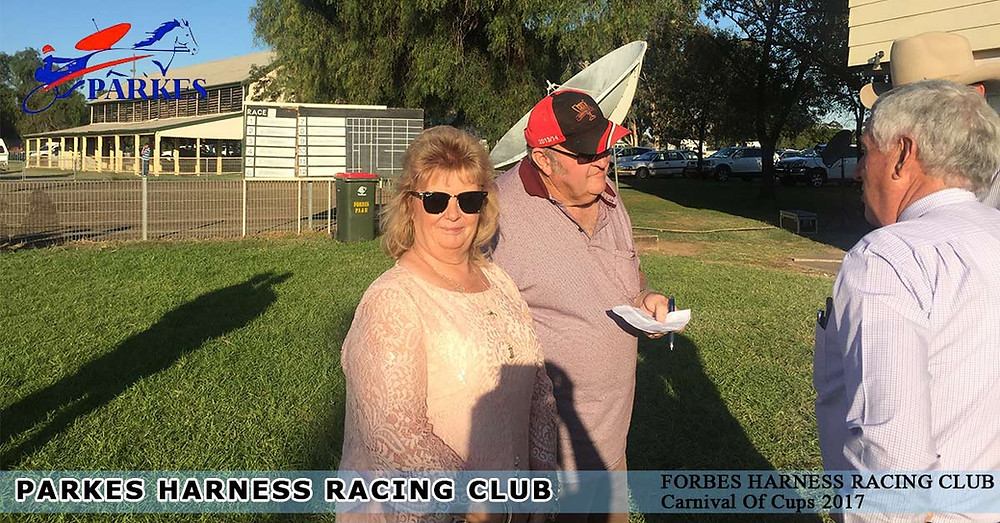 Parkes Harness Local Linda Taylor gets a chance to win a brand new car.