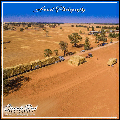 AERIAL PHOTOGRAPHY: Buy A Bale Drop at Bogan Gate