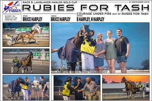 PARKES HARNESS - Race 5 - LANGLANDS HANLON GOLD CUP - RUBIES FOR TASH wins at Parkes Trots